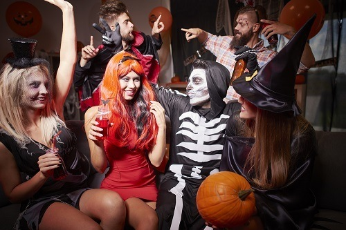 Group Of People On Halloween Party