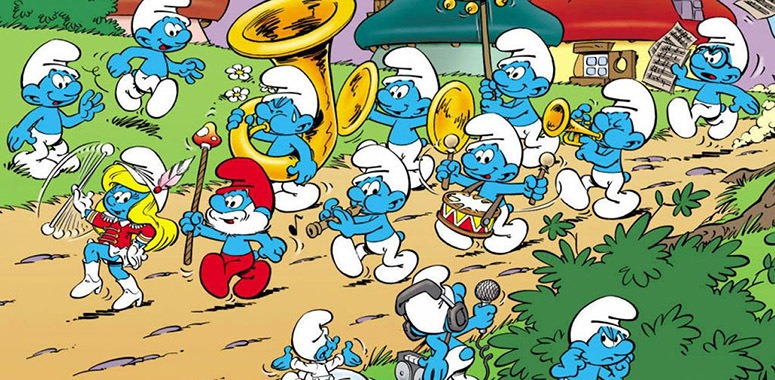 Smurfs Playing Music